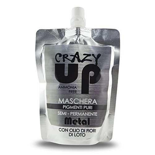 Crazy Up - Máscara tinte del color del pelo semi permanente (todos los colores) Metal