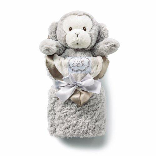 kathy ireland Plush and Blanket Set, Taupe Monkey