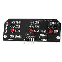 V03 de 3 canales infrarrojos CTRT5000 de seguimiento del módulo del sensor IR - Negro