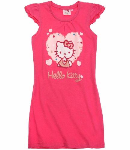 Las niñas Hello Kitty camisón transparente para uñas rosa azul–nuevo de manga, edad 46810años rosa rosa 2 años