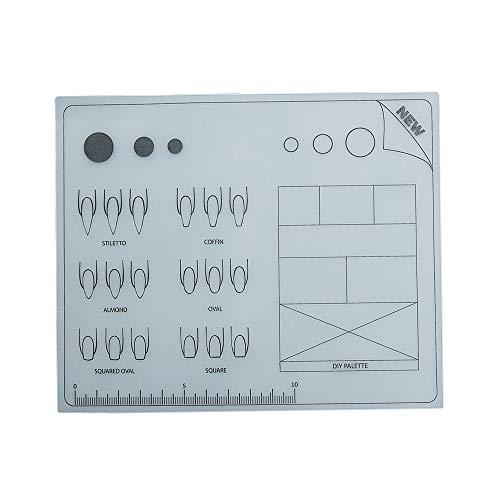 Mini Silikon Nail Art Tischset Waschbar Faltbare Pad Maniküre Kissen Armlehne Maniküre Werkzeug - 0.4 Unzen-nail