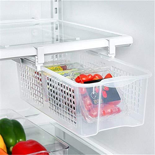 xuanyang524 Smart Design Kühlschrank Ausziehbox & Home Organizer, ausziehbarer Griff für Kühlschränke Gefrierschränke Kühlschrank Aufbewahrungsbox Lebensmittel Frischhaltung klassifiziert Charming -