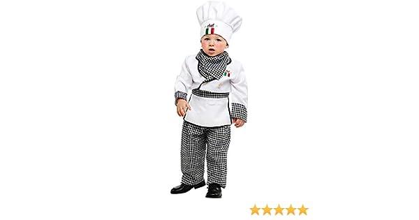 Costume di Carnevale da Piccolo Cuoco Vestito per Neonato Bambino 0-3 Anni  Travestimento Veneziano Halloween Cosplay Festa Party 53153 Taglia 0   Amazon.it  ... 6bd286dc48bb