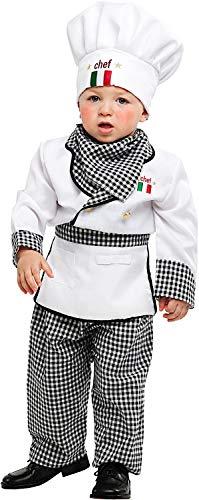 Costume di Carnevale da Piccolo Cuoco Vestito per Neonato Bambino 0-3 Anni Travestimento Veneziano Halloween Cosplay Festa Party 53153 Taglia 2