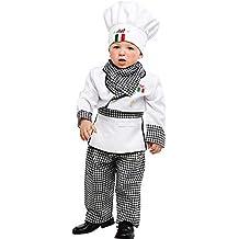 c5997f1b7b443 Costume di Carnevale da Piccolo Cuoco Vestito per Neonato Bambino 0-3 Anni  Travestimento Veneziano
