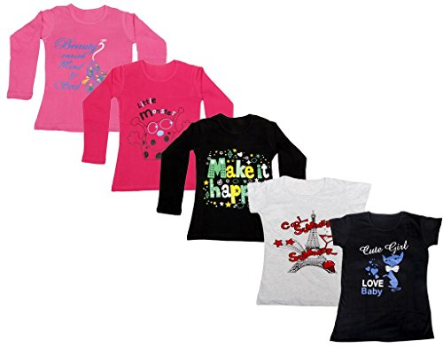 0243cecbc1fe7 IndiWeaves Girls 3 Cotton Full Sleeves and 2 Half Sleeves .