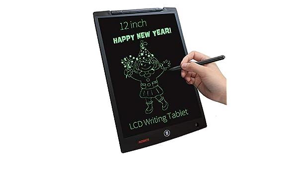 Animation Designer etc Kinder Grafiktablett f/ür Restaurant Zeichentablett mit tragbarem Eingabestift NOBES LCD-Schreibtablett blau blau 12 Pouces magischer Schiefer Studenten
