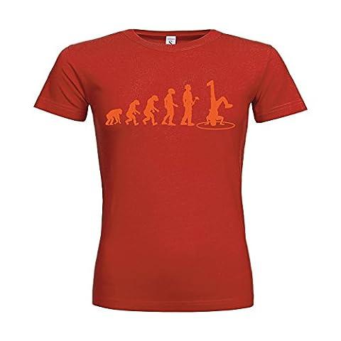 MDMA Frauen T-Shirt Classic Evolutionstheorie Breakdance N14-mdma-ftc00374-426 Textil red /