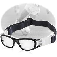 WJY Unisex niños gafas de deporte anti-Fog protección PC lente gafas de ojo de protección/ajustable correa para baloncesto fútbol Hockey Rugby Béisbol Fútbol Voleibol y más