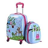 YEXIN Set di valigie per Bambini ABS 12 '' Zaino 16 '' Valigetta per Bambini Tracolle per Bambini da Viaggio
