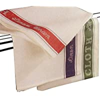 A&B Traders Set of 6 Linen Union Glass Cloths Tea Towels Kitchen Catering Professional