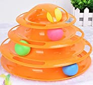 Mumoo Bear New Upgraded Tower of Tracks 4 Level Cat Tracks Interactive Ball Toy (Color Random)