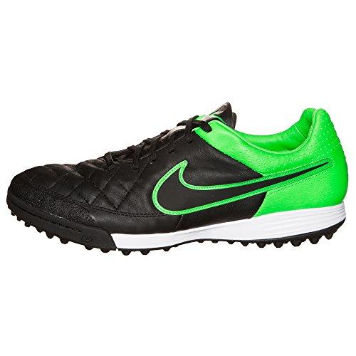 Tiempo hérités Tf Mens Soccer-chaussures 631517-003_6 - Noir Grève / vert / noir Black