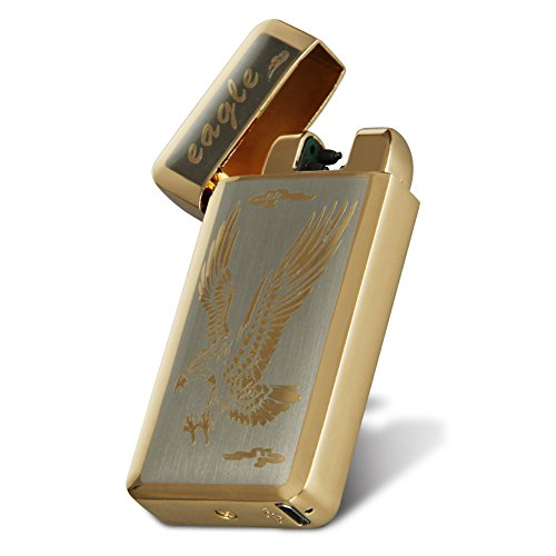 Kivors® Photoelektrischem Sensor Elektronisches Feuerzeug Tragbar USB Aufladbar Dual Lichtbogen -