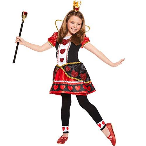 Amscan Herzkönigin Alice im Wunderland Kostüm Kinder Mädchen