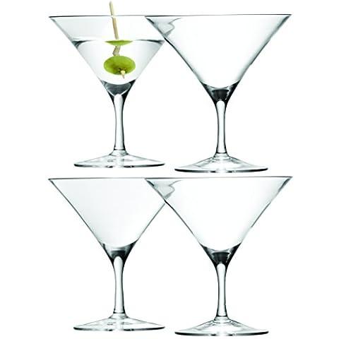 LSA International 180 ml Bar Martini Glass, Clear (Pack of 4)