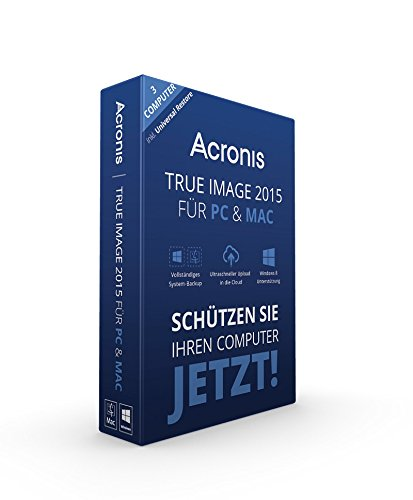 Image-backup (Acronis True Image 2015 für PC & Mac - 3 Computer)
