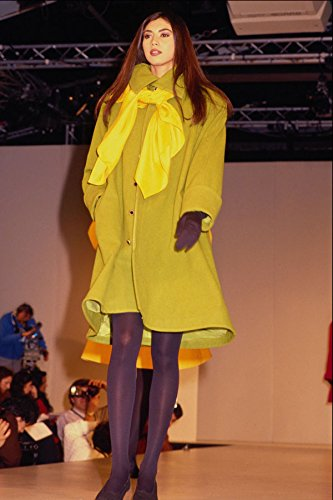 674042 Female In Knee length Coat With Yellow Scarf A4 Photo Poster Print 10x8