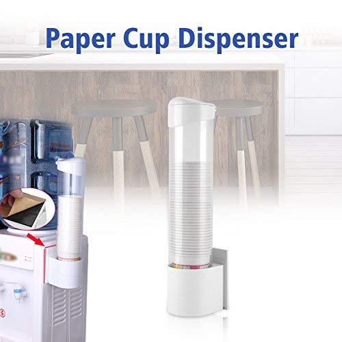 GOTOTOP Tassen Spender, Anti-Staub Wasserdicht Kunststoff 50Papier Wasser Einweg Becherhalter Spender Rack Box Behälter Dixie Cup Dispenser