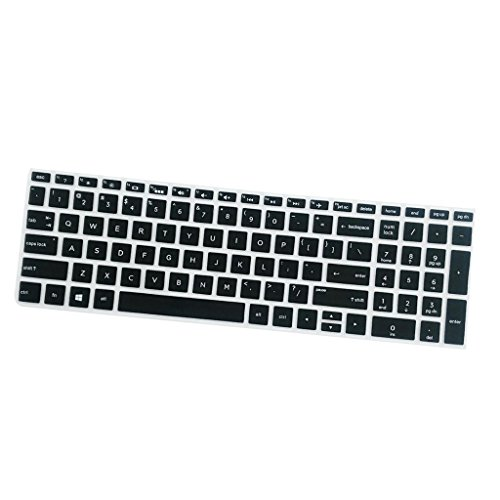 Gazechimp Silikon Desktop Tastatur Ultradünn Silikon Tastaturschutz Wasserfest Abdeckung Schutzfilm Hülle für HP 15,6 Zoll BF Tastatur - Schwarz Laptop-tastatur-haut-hp