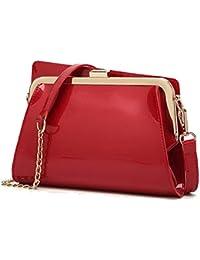 4a7ccd9a1d Borse lucide in pelle vernice alla moda borse catena piccola borsa  Messenger Messenger