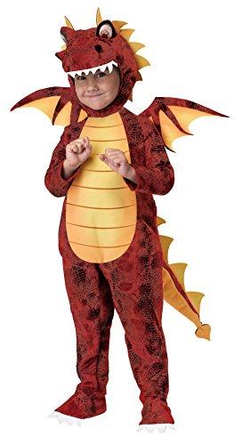 Disfraz de Dragón Rojo para niños 4-6 años
