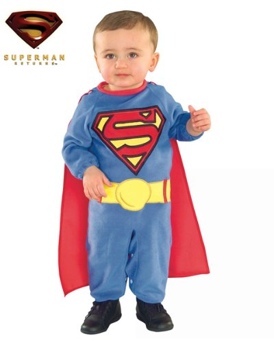 Original Superman Babykostüm - Größe: 6-12 - 6 9 Monate Superman Kostüm