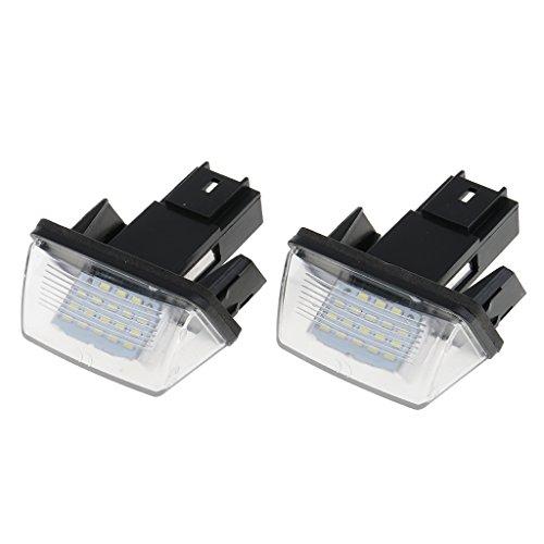 Preisvergleich Produktbild sharplace 2x Leuchtmittel LED 3528SMD Herde für Nummernschilder, für Citroen C4Picasso 2006–2012