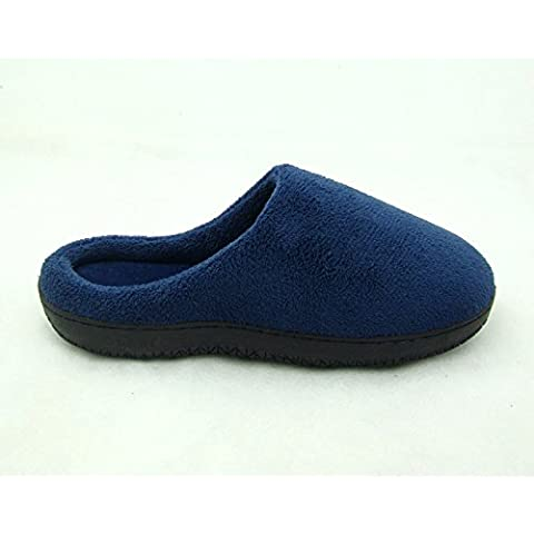 Cotone di memoria lento rimbalzo casa autunno e inverno cotone pantofole coppia maschio amanti sezione 3 paia , navy blue , 46-47 - Navy Blue Slittamento