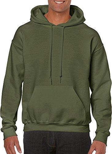 GILDAN  Heavy Blend Adult Unisex Hooded Sweatshirt / Hoodie (M) (Military Green)