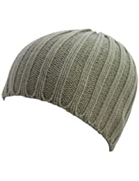 Ribbed Knit Skull Beanies - 5 Colours Available (STONE)