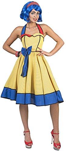 der Kleid für Damen - Gelb - Gr. 48 50 (Pop-art-kleid)