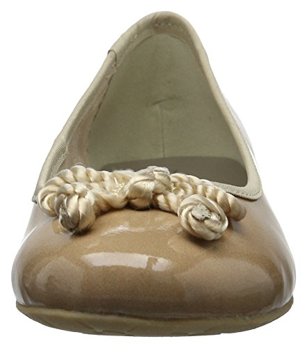 Marco Tozzi Damen 22109 Geschlossene Ballerinas Braun (Candy Patent 538)