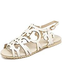 42 F7gmy6yvib Essandalias Mujer Para Amazon Zapatos Romanas Blancas Jlc5uFK13T