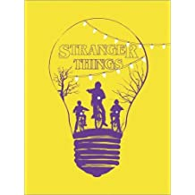 Póster 60 x 80 cm: Alternative stranger things yellow version art de Golden Planet Prints - impresión artística de alta calidad, nuevo póster artístico