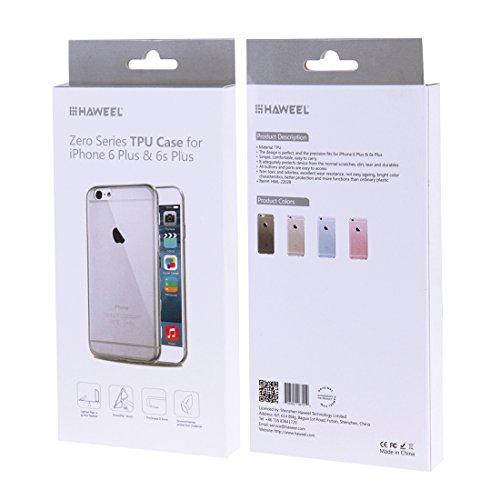 iPhone 6 s Hülle, HAWEEL ® 0,3 mm Zero Serie TPU Schutzhülle für das iPhone 6/iPhone 6 s, Pink Black 6 Plus