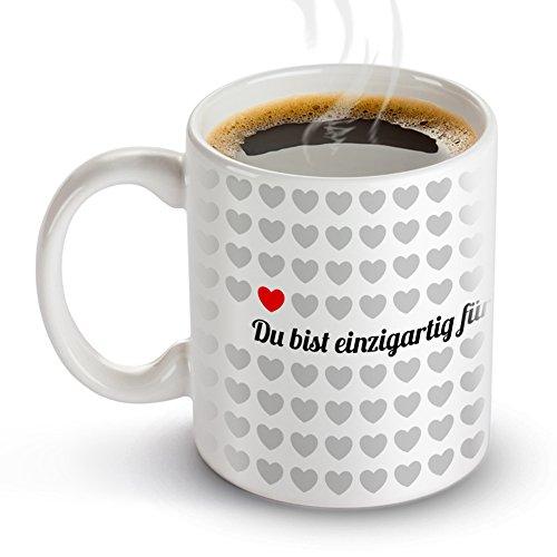 Tassenwerk – Kaffeetasse mit Liebesbotschaft – Motiv 1000 Herzen – Weiße Tasse – Geschenkidee zum Valentinstag für Verliebte – Geschenk für Frauen und Männer zum Geburtstag