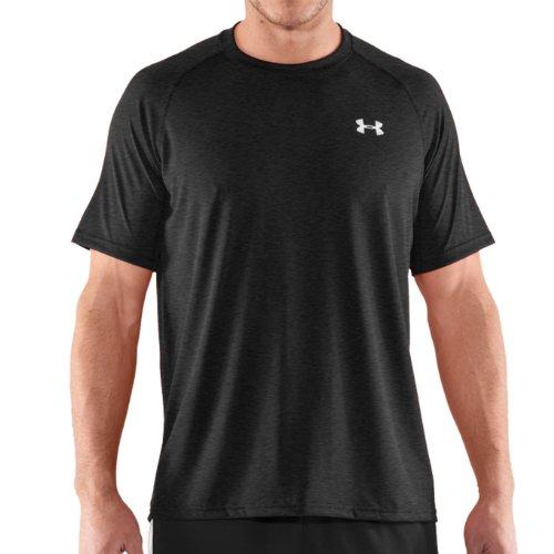 Under Armour Tech T-Shirt manches longues 1/4 zip homme Asphalt Heather/White/Oxford