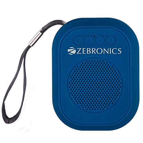 Zebronics Zeb-SAGA Ultra Portable BT Speaker with mSD, USB, AUX, FM & Mic (Blue)