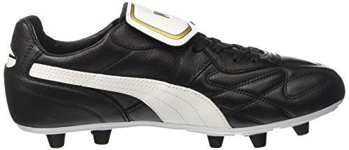 Puma Herren King Top M.i.i Fg Fußballschuhe Schwarz (black-white-team gold 01)