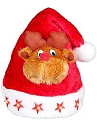 Alsino Weihnachtsmütze mit Blinksternen und Elch wm-47a