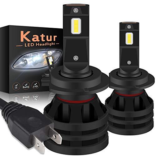 KaTur Lampadine per fari H7 a LED Mini Design Chips CREE potenziati Kit di conversione per fari LED all-in-One da 12000 Lumen 55W 6500K Xenon White-2 Years Waranty