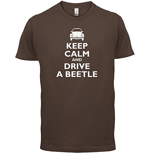 Keep Calm and Drive A Beetle - Herren T-Shirt - 13 Farben Schokobraun