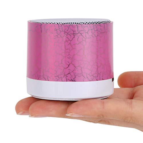 Bluetooth-Lautsprecher (Chshe TM) Tragbare Mini-Stereo-Led-Licht Bluetooth-Lautsprecher Sd-Karte FüR Smartphone-Pc(Rosa) -