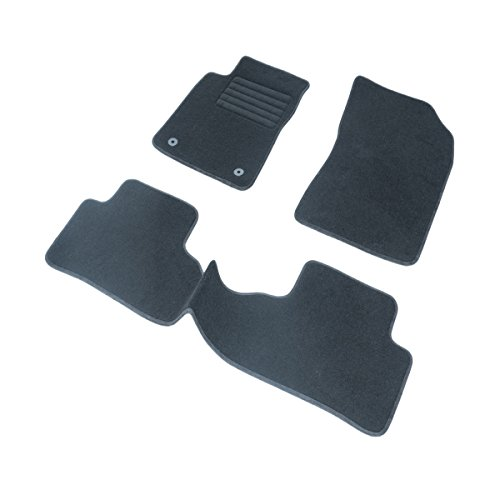 DBS 1766263 Tapis Auto - Sur Mesure - Tapis de sol pour Voiture - 3 Pièces - Antidérapant - Moquette noir 900g/m² - Finition Velours - Gamme Star