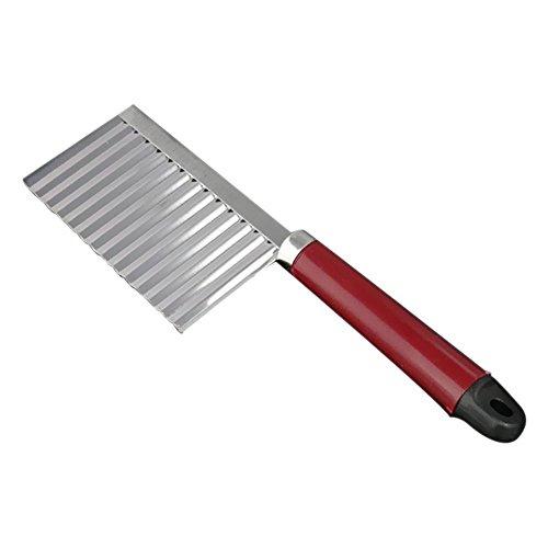 Couteau - TOOGOO(R)Couteau en acier inoxydable de pommes de terre couteau frites coupe vague coupe