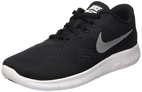 Nike Jungen Free Rn (GS) Laufschuhe, Schwarz (Black/Metallic Silver-Anthrct), 38 EU