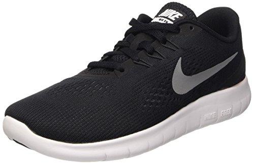 Nike Free Rn Gs, Scarpe Running Bambino, Nero (Black/Metallic Silver/Anthracite), 38 EU