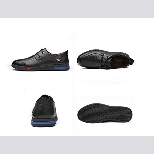 Hommes Casual Baskets basses pour hommes occasionnels chaussures en cuir pour hommes ( Color : Brown-38 ) Black-41