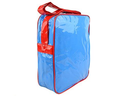 Olio leggero e borsa Messenger-Borsa a tracolla Unisex, Wham Zap Boom Pow Multicolore POW WHAAM